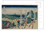 The Weir at Senju in Musashi Province, early 1830s by Katsushika Hokusai