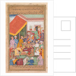 Timur distributes gifts from his grandson, the Prince of Multan, from a Zafar-nama…, 1598-1600 by Shravana