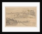 Two Views of Paris, first half 1800s by Georges Michel