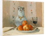 Still Life with Apples and Pitcher, 1872 by Camille Pissarro