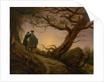 Two Men Contemplating the Moon, ca. 1825-30 by Caspar David Friedrich