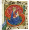 Manuscript Illumination with the Virgin and Child in an Initial S…, mid-15th century by Master of the Franciscan Breviary
