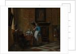 Leisure Time in an Elegant Setting, ca. 1663-65 by Pieter de Hooch
