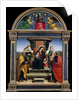Madonna and Child Enthroned with Saints, ca. 1504 by Raphael