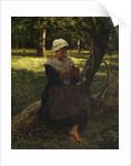 A Peasant Girl Knitting, ca. 1870 by Jules Breton