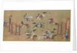 Tartars Playing Polo, early 18th century by Kano Eisen'in Furunobu