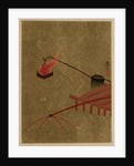Fire Basket Suspended from Dock over a Fish Net in the Water by Shibata Zeshin