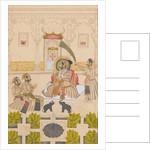 Maharana Amar Singh II Is Shown Two Silver Elephants, ca. 1705 by Stipple Master