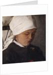 Peasant Girl with a White Headcloth, 1885 by Wilhelm Maria Hubertus Leibl
