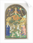 Manuscript Leaf with the Last Judgment, from a Book of Hours, ca. 1400 by Unknown