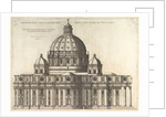 Speculum Romanae Magnificentiae: Elevation Showing the Exterior of Saint Peter's Basili…, 1558-61 by Etienne Duperac