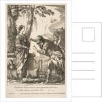 Rebecca and Eliezer by Francois Chauveau