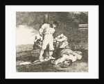 Plate 15 from 'The Disasters of War': 'And there is no help.'…, 1810 by Francisco Goya