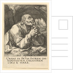 St. Peter, from Christ, the Apostles and St. Paul with the Creed, 1589 by Hendrik Goltzius