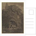 Gothic Church Hidden by a Tree, 1810 by Karl Friedrich Schinkel