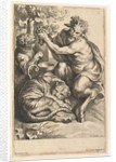 Satyr with Grapes and Two Tigers, 1614-1679 by Lucas Vorsterman II