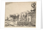 Sheep, from a set of 16 plates, 1664 by Marcus de Bye