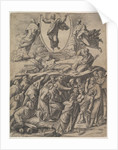 The Transfiguration of Christ who appears upper centre, below him various figures inclu…, 1530-60 by Master of the Die