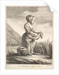 Little girl with a vessel by her feet, from Premier Livre de Figures d'après les porcelain…, 1757 by Pierre Etienne Falconet
