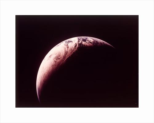 Earth from Apollo 4 spacecraft, 9 November 1967 by NASA