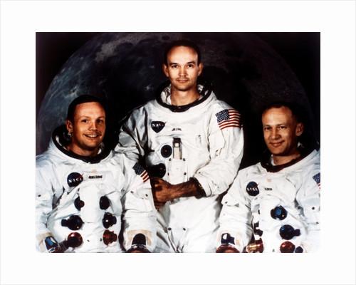 Neil Armstrong, Michael Collins and Buzz Aldrin, crew of Apollo 11, 1969 by NASA