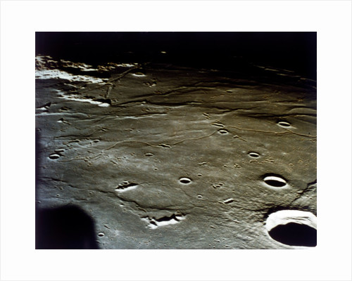 Lunar Module approaching landing site on the Moon, Apollo II mission, July 1969 by NASA
