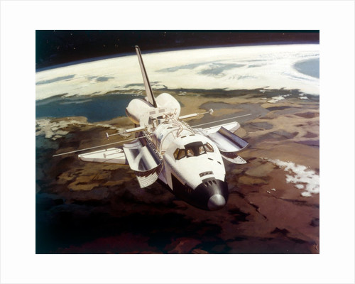 Space Shuttle Orbiter in flight, 1980s by NASA