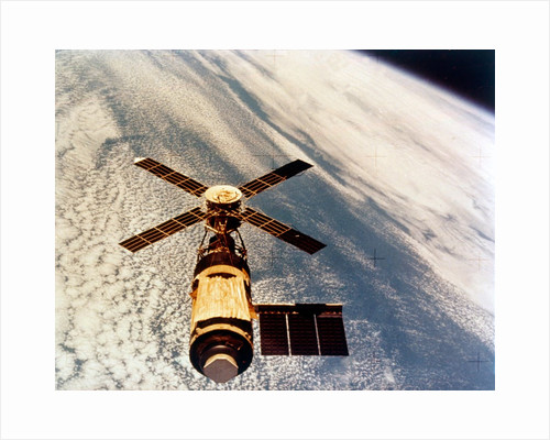 Skylab in orbit above Earth at the end of its mission, 1974 by NASA