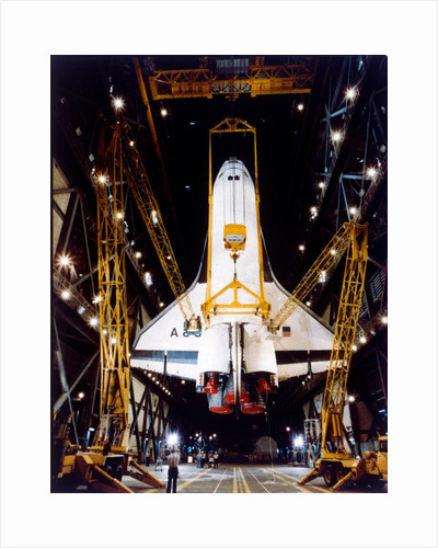 Shuttle in Vehicle Assembly Building, second Space Shuttle flight, 1981 by NASA