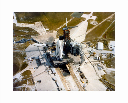 Space Shuttle Orbiter on the launch pad, Kennedy Space Center, Merritt Island, Florida, USA, 1980s by NASA