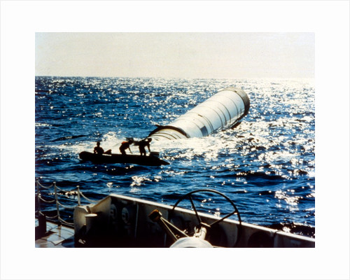 Rocket booster recovery, second Space Shuttle flight, November 1981 by NASA