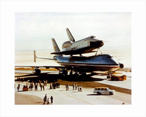 Roll-out of Space Shuttle Orbiter 'Enterprise', California, USA, 17 September 1976 by NASA