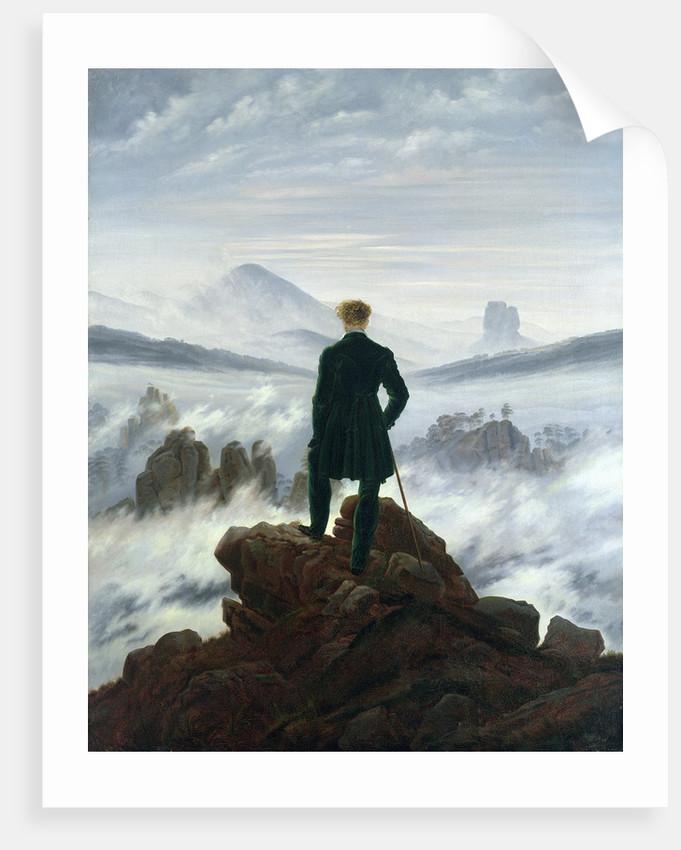 the wanderer above the sea of fog posters prints by caspar david friedrich. Black Bedroom Furniture Sets. Home Design Ideas