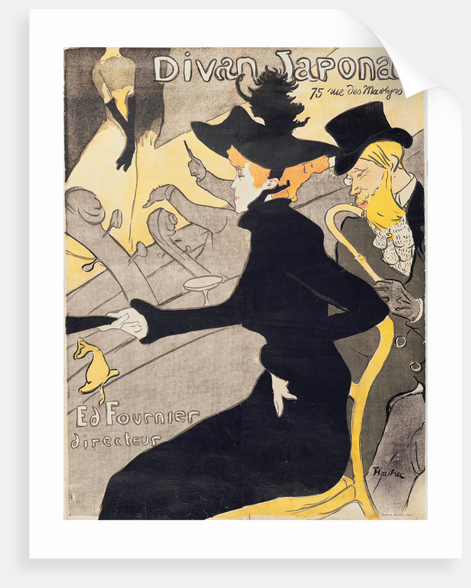 Le divan japonais posters prints by henri de toulouse for Divan japonais toulouse lautrec