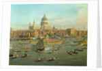 The River Thames with St. Paul's Cathedral on Lord Mayor's Day by Canaletto
