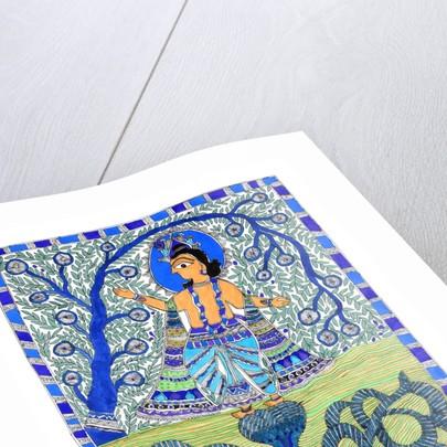 Krishna and Naga by Sunil