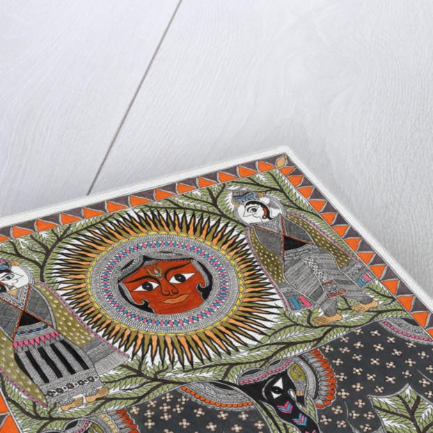 Sun, Elephants and Peacocks by Anil