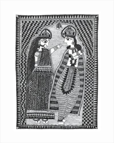 Radha and Krishna by Kaushal