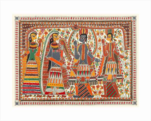 Rama and Sita Marriage Scene by Birendra
