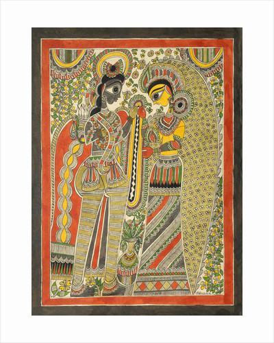 Rama and Sita by Mithlesh