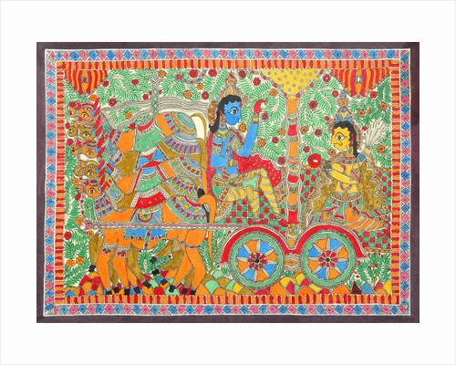 Arjuna and Krishna by Basnat