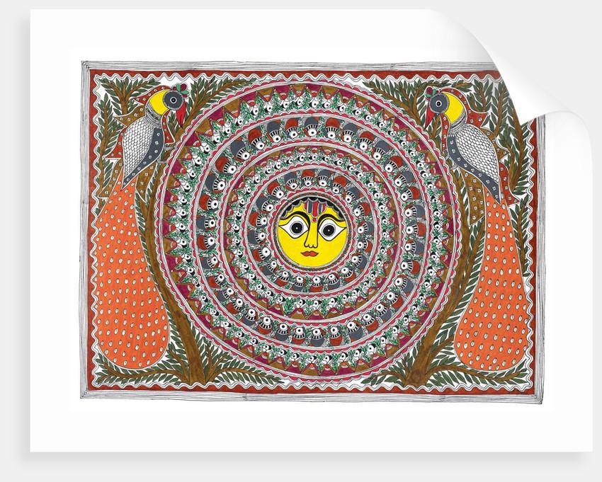 Sun and Peacocks by Santosh