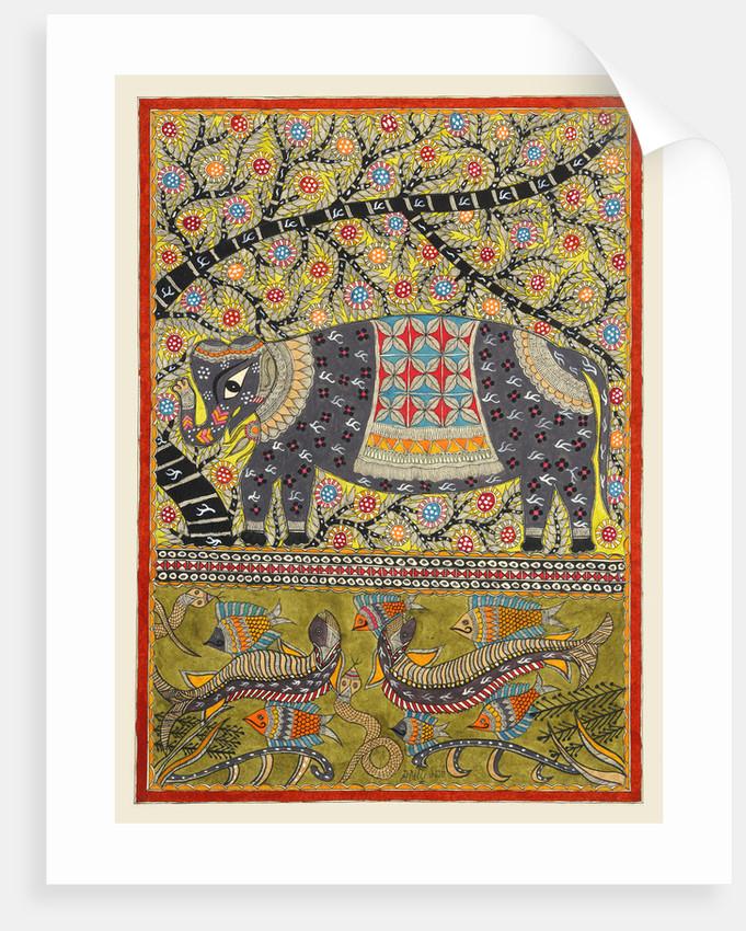 Elephant under Tree by Anil