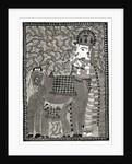 Krishna and Cow by Vikash