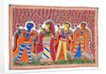 Krishna and Gopis by Kushal