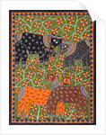 Elephants and Deer by Anil