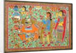 Sita and father King Janak by Basnat