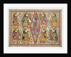 Krishna and Gopis Rasalila by Birendra
