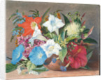 180. Group of flowers, wild and cultivated, in Jamaica, 1872 by Marianne North