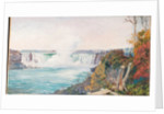 187. View of both falls of Niagara, 1871 by Marianne North